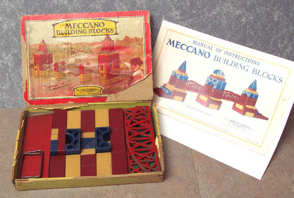 1930 US Meccano Block outfit